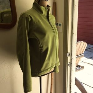 North Face Apex Green Jacket Sz Medium Zip Pockets